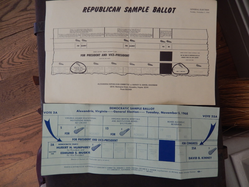 Nixon and Humphrey Sample Ballots