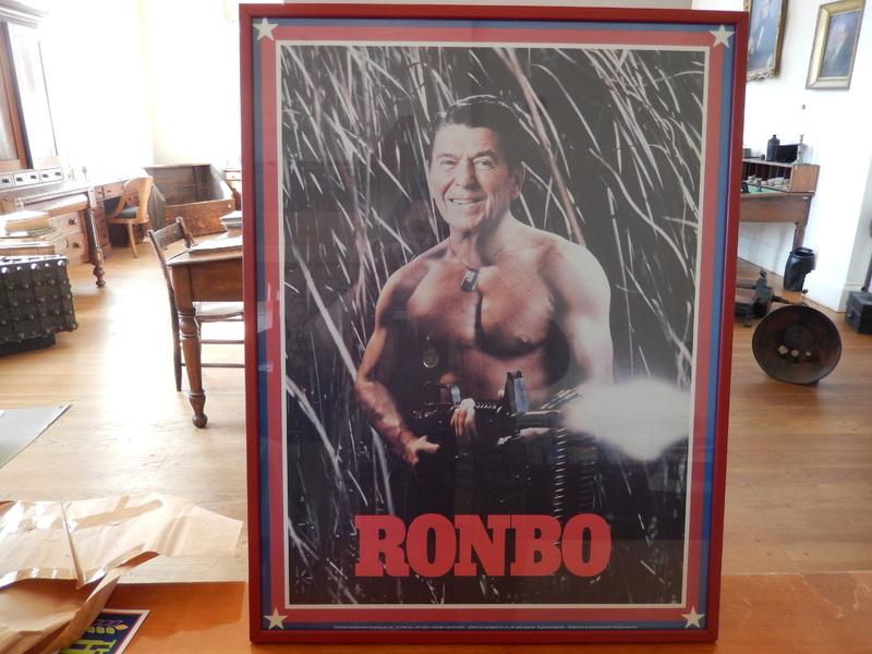 RONBO! Ronald Reagan as Rambo Poster