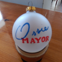 Campaign Promotional Christmas Ornament from Springfield, Illinois Mayoral Election