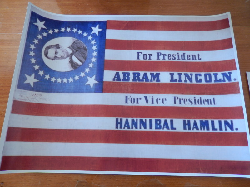 Lincoln Political Banner from 1860 Election