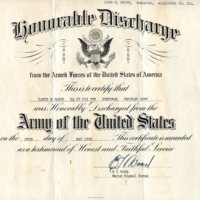 Military Discharge Certificate