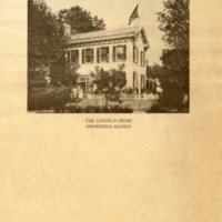 Front of Lincoln Home Pamphlet